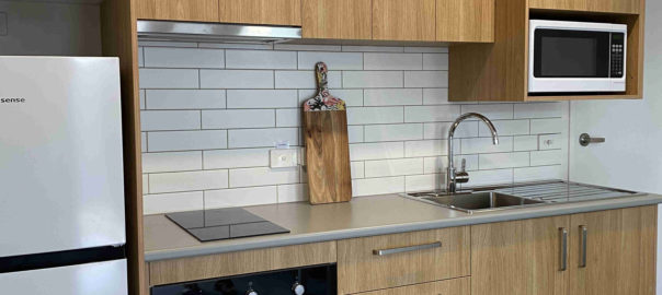 Fully equipped kitchen in one bedroom apartments