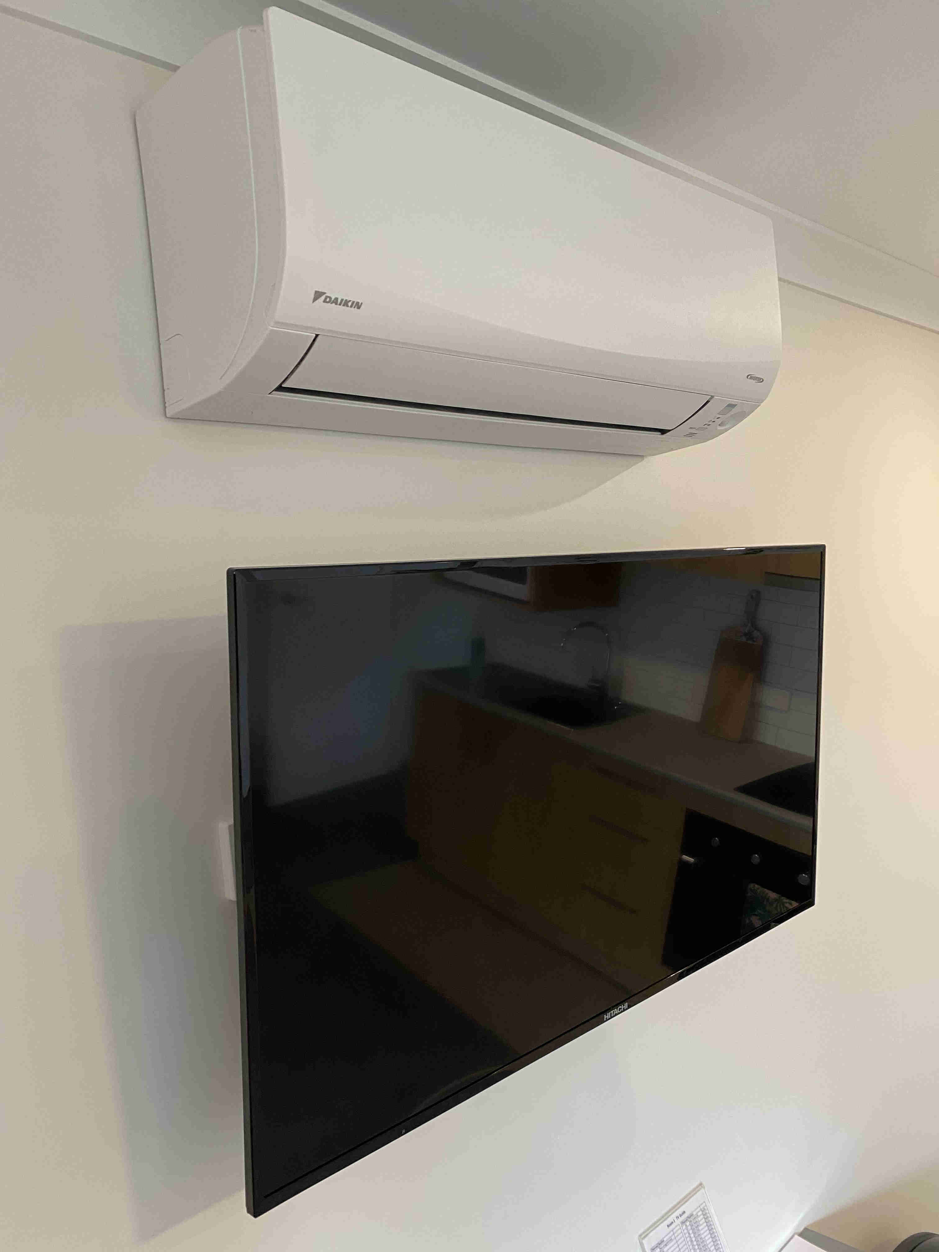 TV and split system air conditioner in all apartments