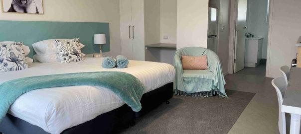 Studio apartments overview at Botanic Apartments, Warrnambool