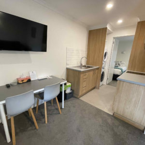 Kitchen/Dining and Smart TV (Twin/Triple Apartment)