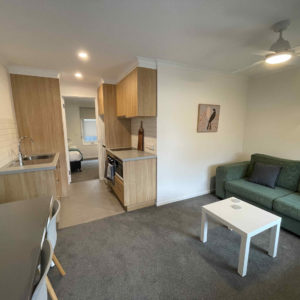 Lounge and Kitchen (Twin/Triple One Bedroom Apartment)